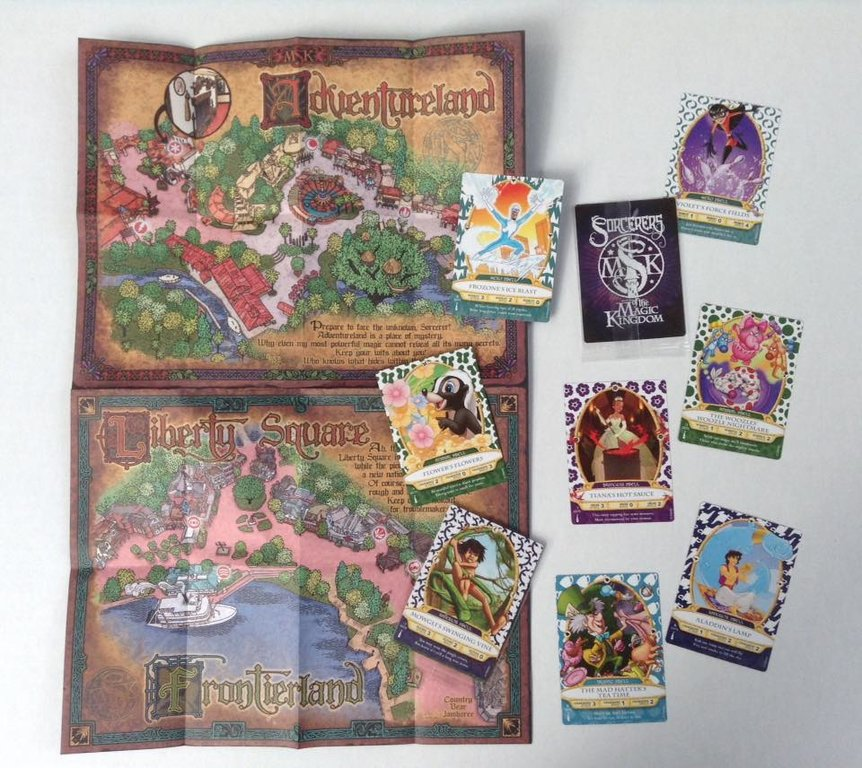 WDW- Sorcerer's of the Magic Kingdom cards and map.jpg
